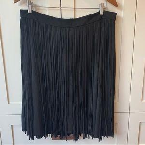 Melanie Lyne Black Fringe Skirt
